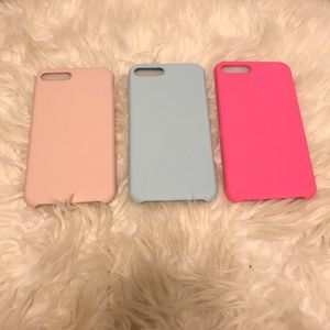 Brand NEW! 3 Piece Soft Silicone iPhone 7/8+ Case